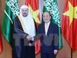 越南国会主席阮生雄同沙特阿拉伯王国协商会议主席会谈