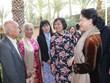阮氏金银会见旅居摩洛哥越南人代表