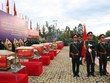 在柬牺牲的越南烈士追掉会及遗骸安葬仪式在平福省举行