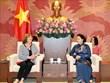 越南国会主席阮氏金银会见法越议员友好小组主席