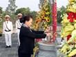国会主席阮氏金银前往槟椥省烈士陵园上香和凭吊英烈