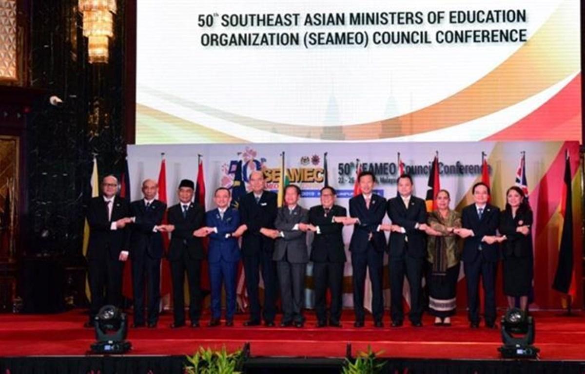 东南亚教育部长组织(SEAMEO)第50届理事会会议在马来西亚举行。图自越通社