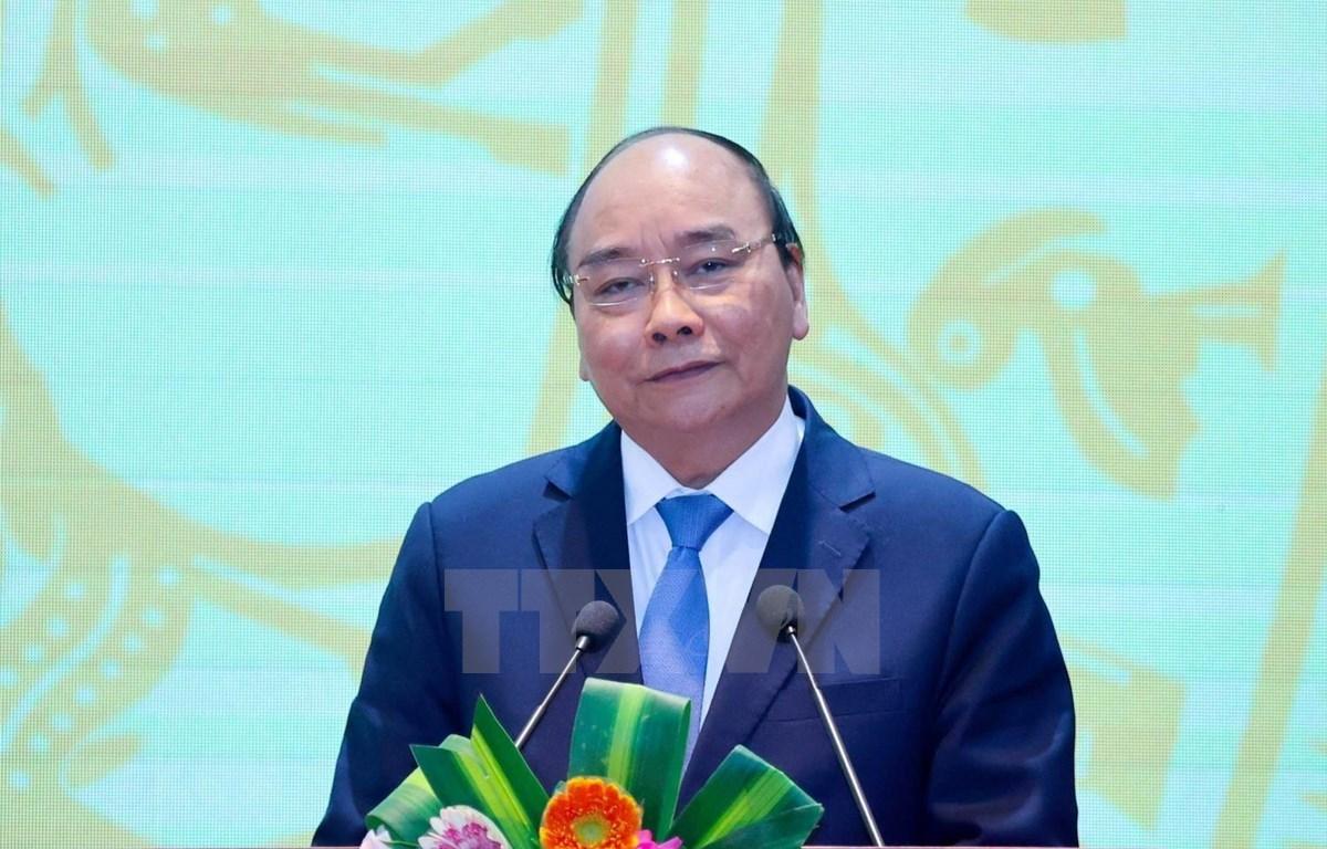 越南政府总理阮春福出席银行部门2021年任务部署会议