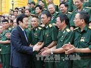 伤残军人与烈士日68周年:张晋创主席亲切会见二号军区老战士