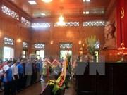 越老两国中央对外部工作代表团敬香缅怀胡志明主席