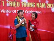 越南岘港市巴拿山景区迎接第100万名游客