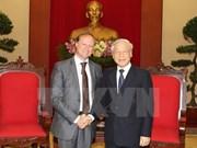 阮富仲总书记会见比利时驻越大使布鲁诺·安格莱特