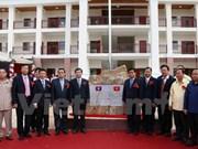 越南举行老挝琅南塔省汶普卡高中学校落成暨移交仪式