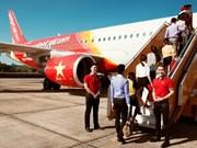 越捷航空公司调整从胡志明市至朱莱航班次数