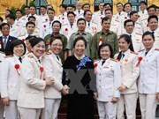 越南国家副主席阮氏缘会见人民公安力量先进模范