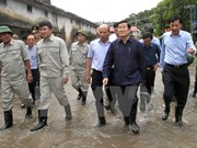 越南国家主席张晋创赴广宁省视察灾情并指导救灾工作
