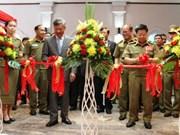 越老安全合作图片展在老挝万象开展