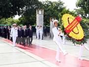 越南党和国家领导人凭吊胡志明主席陵墓
