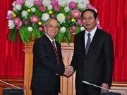 越南公安部长陈大光会见古巴内务部代表团