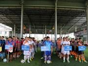 老挝越南人社群举行业余足球比赛 庆祝越南国庆70周年