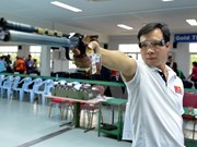 越南射击运动员黄春荣获得2015年射击世界杯德国站亚军