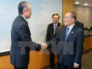 国会主席阮生雄会见世行行长并出席有关越南的研讨会