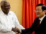 越南国家主席张晋创会见古巴国会主席埃尔南德斯