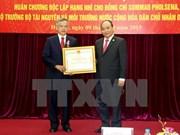 老挝自然资源环境部部长荣获越南二级独立勋章