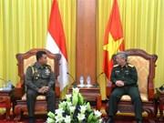 越南副防长阮志咏上将会见印尼驻越武官