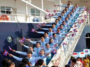 东南亚与日本青年船访问胡志明市