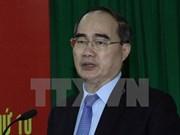 越南祖国阵线中央委员会主席阮善仁会见挪威教会援助社秘书长
