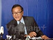 柬埔寨法院以侮辱国会主席韩桑林罪向桑兰西发传票