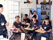 清化省努力为残疾人创造就业机会