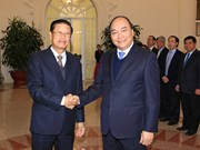 越南政府副总理阮春福与老挝政府副总理宋沙瓦举行会谈