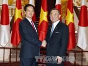 越南政府总理阮晋勇会见日本参议院议长山崎正昭