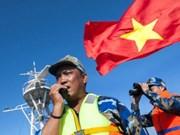"""越南胡志明共青团中央举行""""在党旗下自豪前进""""摄影大赛颁奖仪式"""