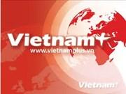 越南国防部副部长张光庆会见乌克兰老战士代表团