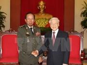 越共中央总书记阮富仲会见柬埔寨政府副首相兼国防大臣迪班