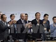 气候变化巴黎大会通过《巴黎协定》