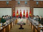 越南国防部长冯光青大将会见中国援越老战士代表团