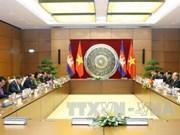越南国会主席阮生雄与柬埔寨参议院主席赛宗举行会谈