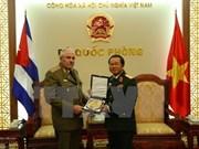 杜伯巳大将会见古巴革命武装力量部防空空军司令