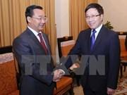 政府副总理范平明会见中国广西壮族自治区人民政府常务副主席唐仁健