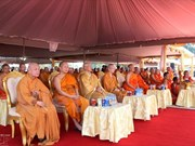 越南佛教协会中央委员会赴老挝参加老挝佛教协会主席荼毗法会