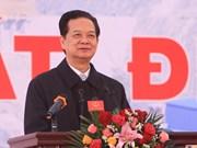 阮晋勇总理出席莱州水电站1号机组发电仪式