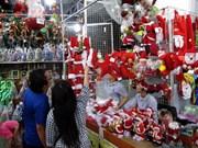 胡志明市进入圣诞节前购物旺季