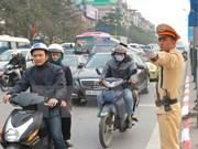 河内市开展越共十二大和春节前夕城市交通秩序保障措施