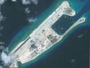 中国在归属越南长沙群岛非法建设的机场进行校验试飞使地区紧张局势升级