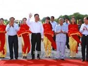 阮晋勇总理下达和中桥与胡志明公路南根至地美路段通车令