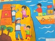 胡志明市100多名少年儿童参加《春天来到海岛》绘画比赛