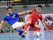 2016亚洲五人制足球锦标赛赛前准备:越南队与马来西亚队较量