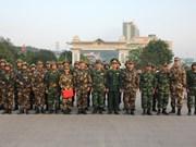 越南老街省与中国云南省边防部队联合巡逻边境