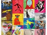 展示25幅猴子画喜迎新春