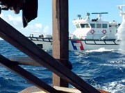 越南渔业工会:强烈反对中国台湾巡逻艇使用水炮攻击越方渔船
