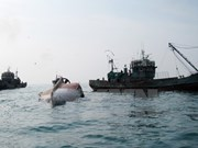 印尼继续炸沉外国非法捕捞渔船